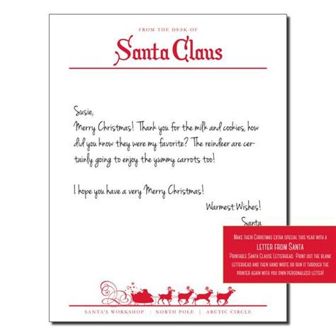 Official Letterhead From Pole Santa Letterhead By Instagraphic Printable