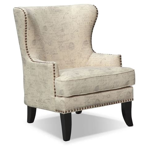 accent chairs marseille accent chair cream and black american