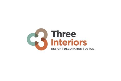 interior decorating business three interiors interior design company logo case study