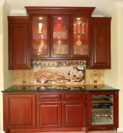wine butlers pantry with custom backsplash decobizz