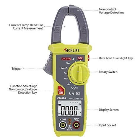 Sale Digital Cl Meter Ac Dc Kyoritsu 2046r True Rms tacklife cm02a advanced 600 digital cl meter trms 6000 counts ncv with ac dc voltage test