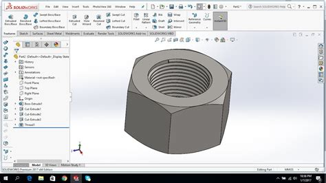 solidworks tutorial on youtube solidworks tutorial how to draw m12 nut youtube