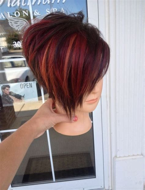 exles of funky high lights for short hair 263 best red highlights images on pinterest hair ideas