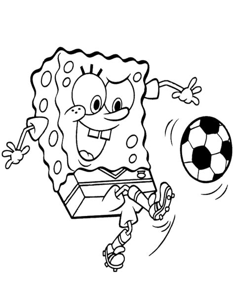 spongebob coloring pages download spongebob playing football to print or download for free