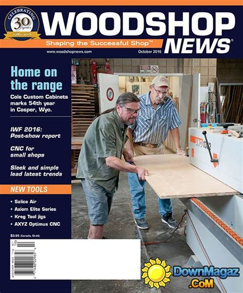 woodworking news magazine woodshop news october 2016 187 pdf magazines