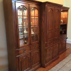 thomasville bookcases thomasville 3 pc fisher park collection pecan wall