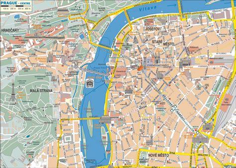 Printable Map Of Prague City Centre prague city center map