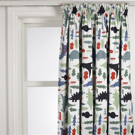 dinosaurs curtains jigsaw wide stripe fringe edge scarf multi curtains and