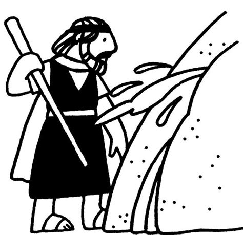 bible coloring page water from the rock 10 best images about moses water from the rock on