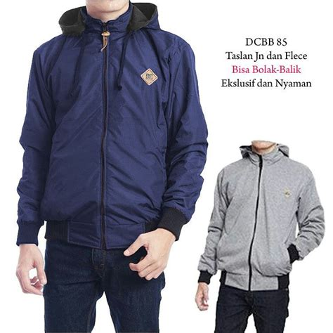 Jaket Bolak Balik Premium Jaket Bb Parka Taslan Warna Navy Turkis jaket sweater parka cr7 bb army bolak balik taslan comby fleece high quality