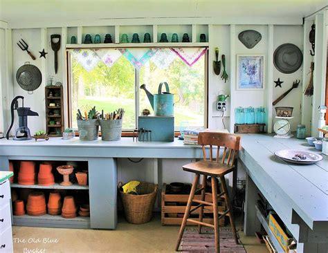 hometalk vintage potting shed