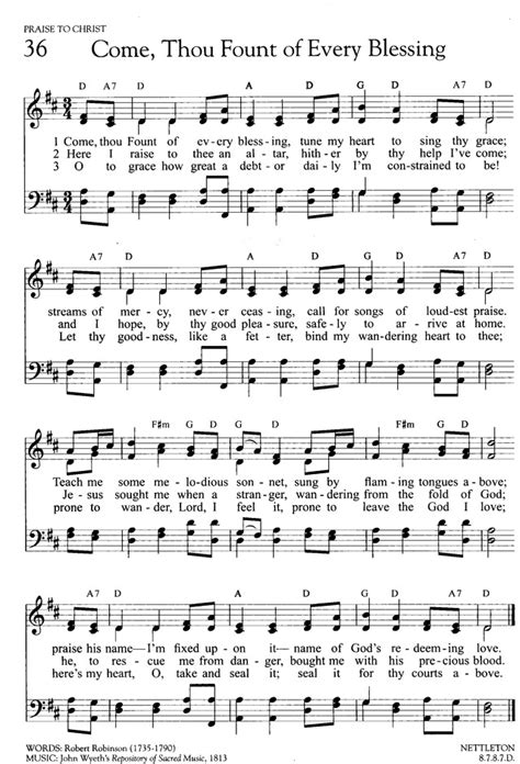 printable lyrics every praise is to our god hymns of promise a large print songbook 36 come thou