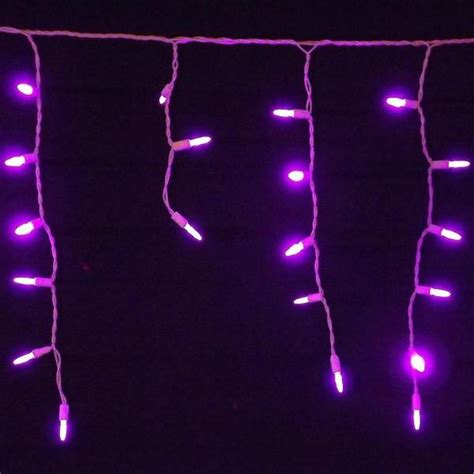 seasonal source 88612 r led icicle lights purple 70