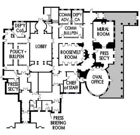 west wing floor plan the tv west wing