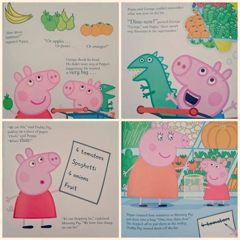 peppa pig lets go let s go shopping peppa