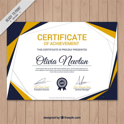 modern certificate template compilation 10 free certificate templates