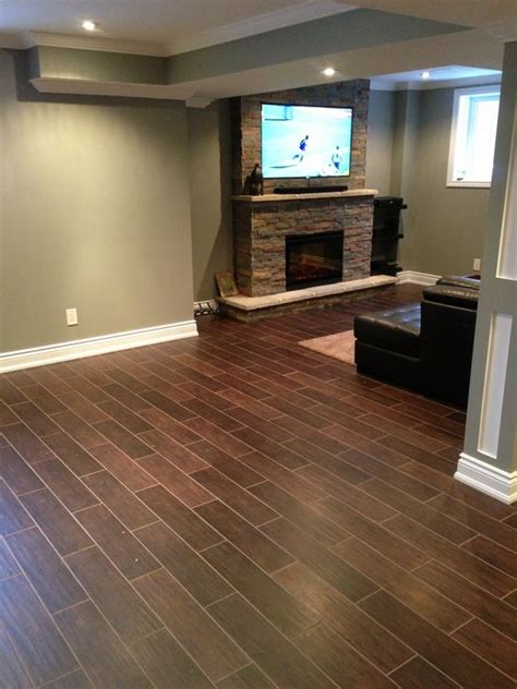 wood flooring basement hardwood floor alternative hardwood styled tile hardwood tile basement fireplace