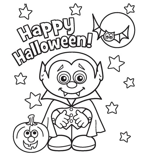 Halloween Coloring Pages Printable Free Coloring Home Haloween Coloring Pages