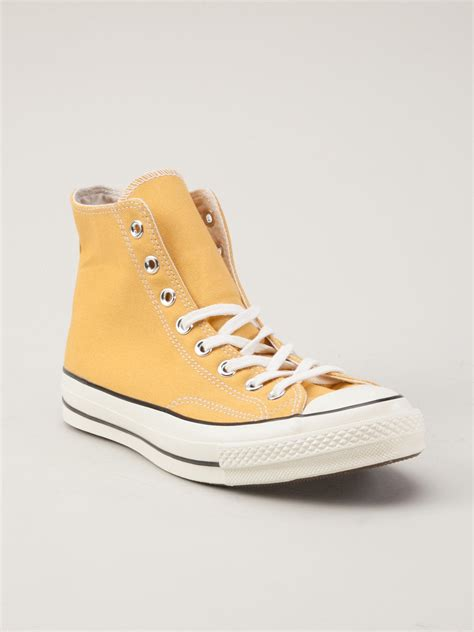 yellow high top sneakers converse 70s hitop shoes in yellow for yellow