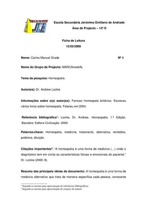 Ficha de Leitura - Carlos by marca medial - Issuu