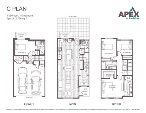 apex floor plans apex at the lakes lake country townhomes new homes