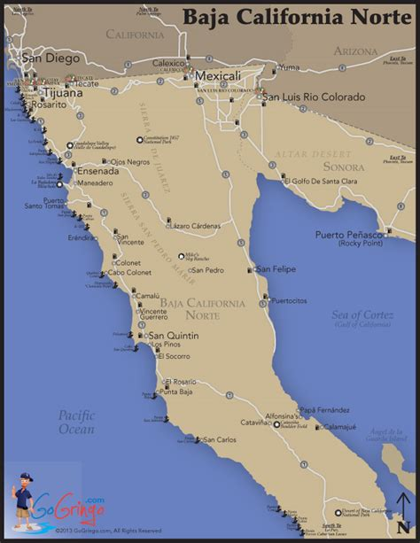 map of baja the baja map go gringo