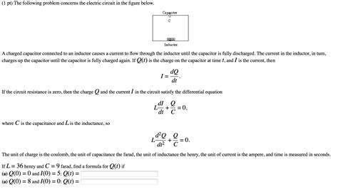 capacitor problems and answers 1 pt the following problem concerns the electric chegg
