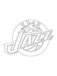 jazz basketball coloring pages coloriage logo des jazz de l utah coloriages 224