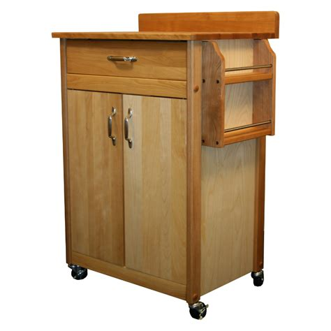 Spice Cart Catskill Butcher Block Cart W Backsplash Spice Rack
