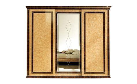 armadio grande armadio in legno macassar con specchio serigrafato