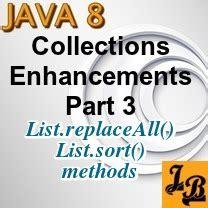 visitor pattern jpa java 8 list sort list replaceall methods tutorial with
