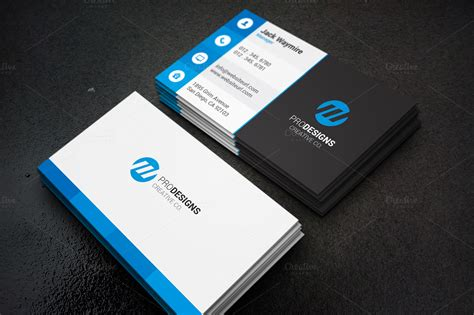 meats business cards template modern creative flat business card business card
