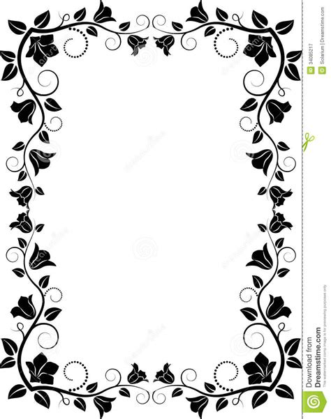 how to create a vector decorative frame in illustrator floral frame royalty free stock photography image 34085217