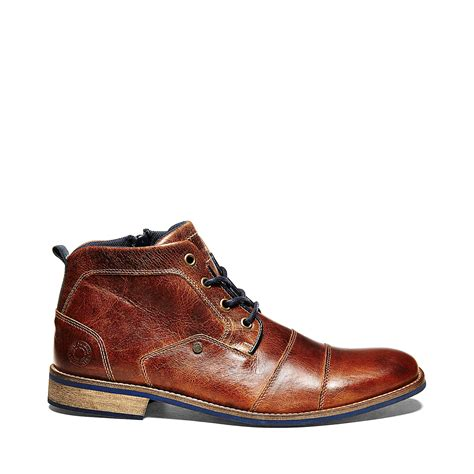 leather boot mens steve madden kramerr in brown for leather lyst