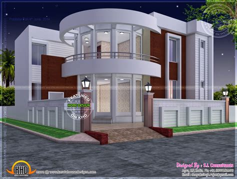 modern house plans designs modern house plan with round design element kerala home