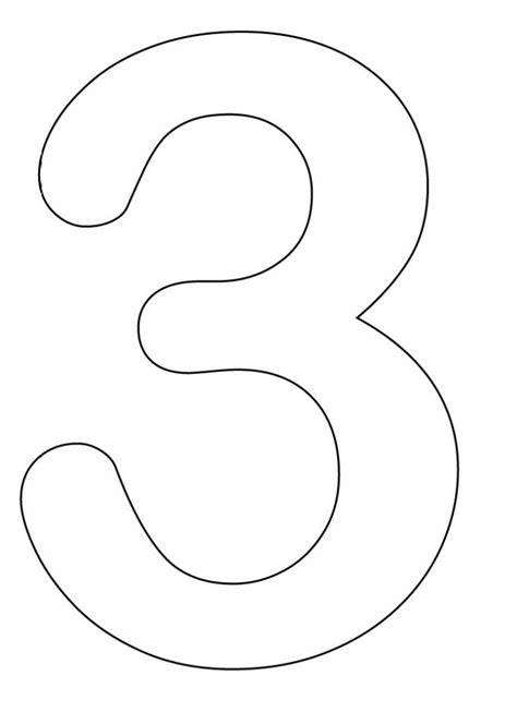 coloring page number 3 coloring pages numbers preschool number coloring pages