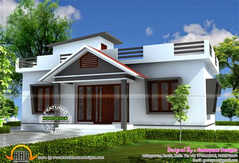 House Design by Small House In 903 Square Kerala Home Design And