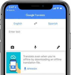 traduttore mobile come attivare o disattivare la traduzione automatica di