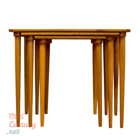3 nesting tables set of 3 nesting tables mid century