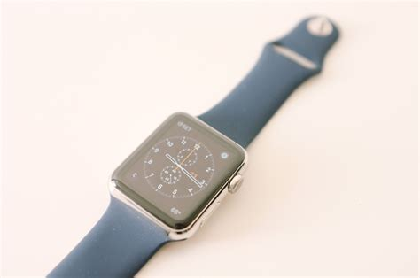 light blue apple watch band hands on replica midnight blue apple watch sport band