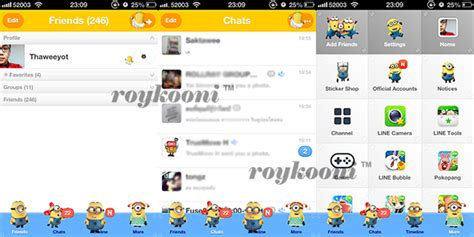 theme line for android despicable me เปล ยน theme line android one piece