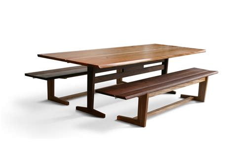trestle table with bench kate s trestle benches city joinery