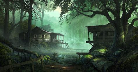 wallpaper dark house dark forest house wallpapers hd desktop and mobile