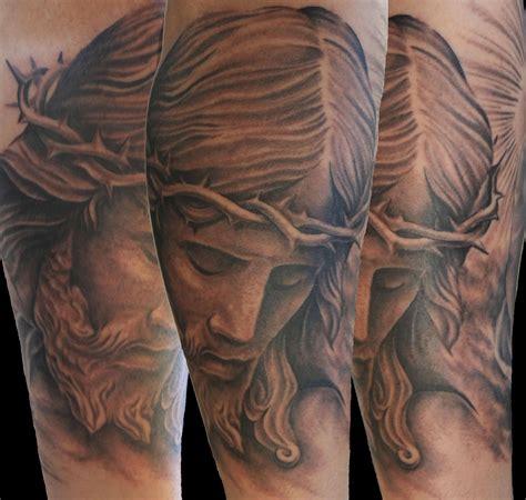 grey tattoo ink grey ink jesus sad