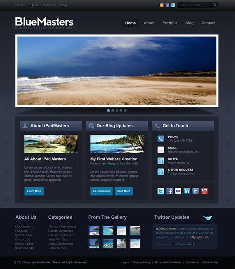 drupal themes bluemasters installed theme looks nothing like displayed demo theme