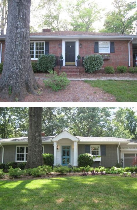 exterior brick paint before and after 10 before and after curb appeal photos pretty purple door