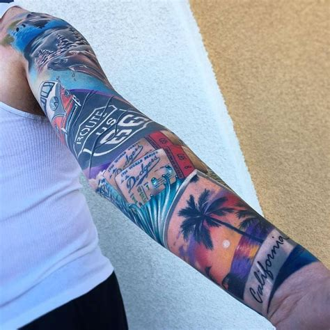 tattoo image victorville ca in progress california sleeve by brentolson aj at