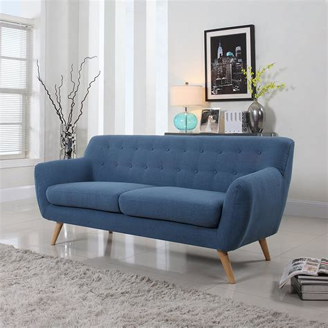 blue mid century modern sofa century sofas 240 affordable mid century modern style