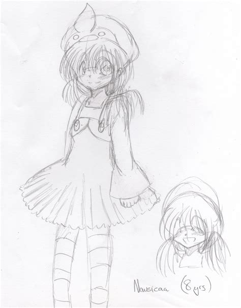 8 Year Sketches by 8 Year Nausicaa Sketch By Mollythelunatic On Deviantart