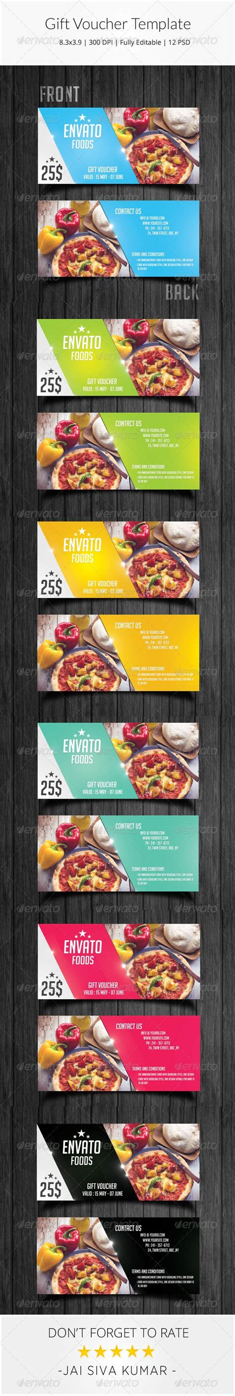 Graphicriver Gift Card Template by Gift Food Voucher Template Psd Buy And Http